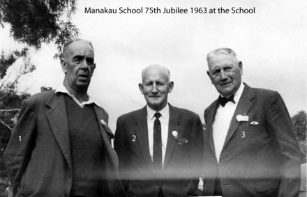 Manakau School 75th Jubilee 1963 at the School grounds l