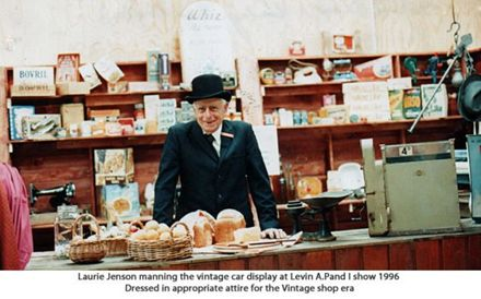 Laurie Jenson manning vintage shop at API show..