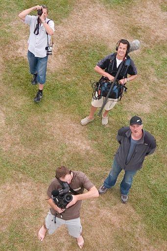 TV Crew - Photo by Trevor Heath