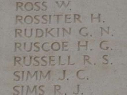 Hugh Grenville RUSCOE memorial