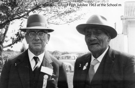 Manakau School 75th Jubilee 1963 at the School grounds m