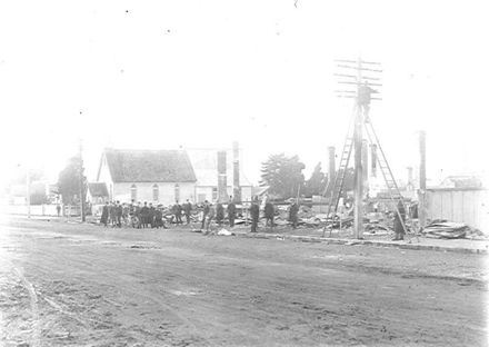 Main Street, Foxton, After the July 1912 Fire