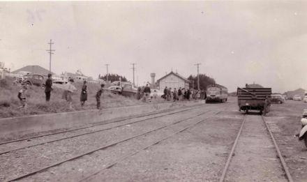 Last railcar at Foxton