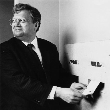 Foxton Post Office, Prime Minister David Lange Posts a Letter, 1980's