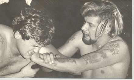 First professional wrestling match staged in Levin