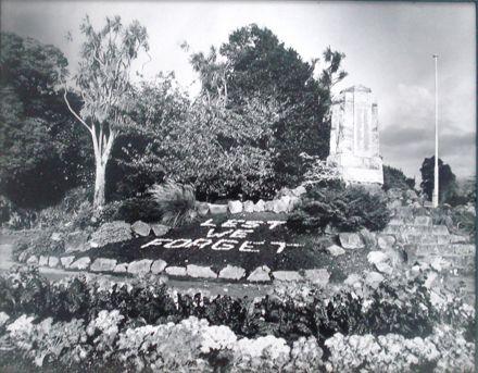 War Memorial, Levin Public Gardens, 1982