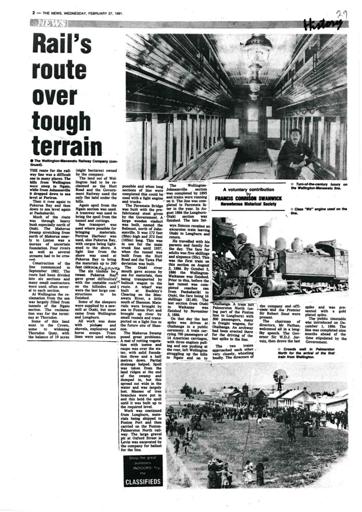 Rail's route over tough terrain