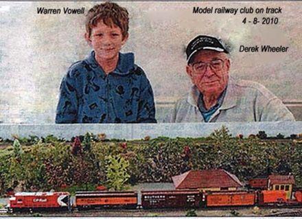 Model railway club on track