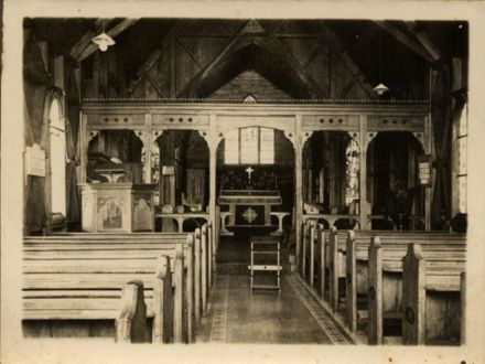 Interior of All Saints Foxton