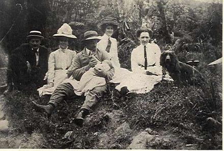 Clayton family picnic, Otaura Stream (Shannon), c.1910