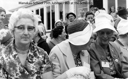 Manakau School 75th Jubilee 1963 at the School grounds o