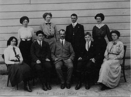 Foxton School Staff, 1913