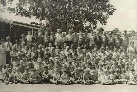 Staff and Pupils of Fairfield School 1963
