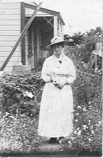 Unidentified Woman in Cottage Garden