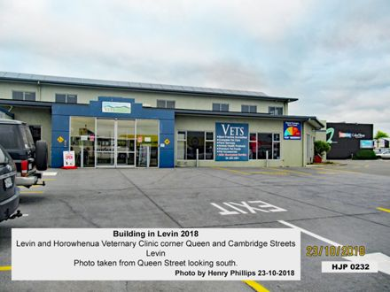 Levin and Horowhenua Veternary Clinic corner Queen and Cambridge Streets Levin 23-10-2018