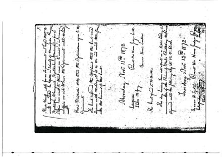 11th and 12th Nov 1872