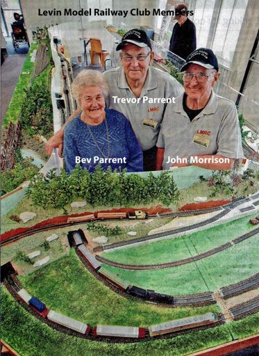 Levin Model Railway Club members