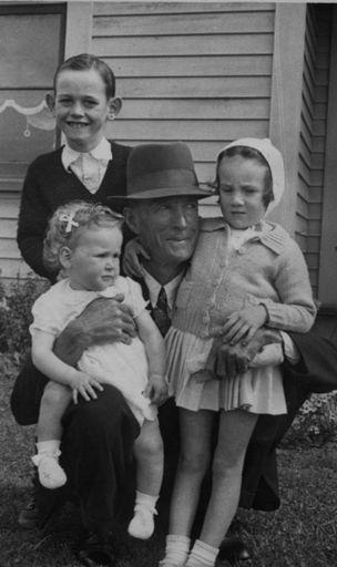 Albert Dunn With His Grandchildren