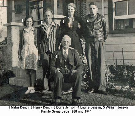 Jenson Family Group circa 1938 and 1941