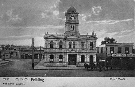 Muir & Moodie Postcard - Feilding Post Office, c. 1900s