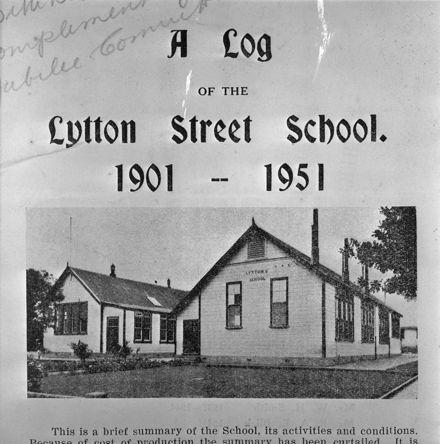 Lytton Street School Log