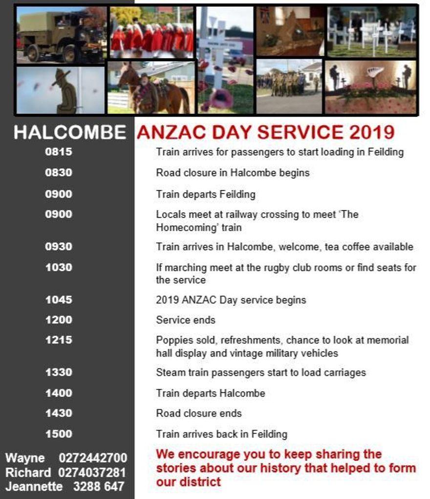 Halcombe Anzac Service 2019