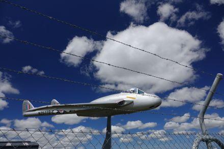 Page 1: Ohakea Main gate aircraft