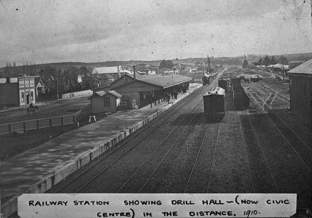 Feilding Railway Station, c. 1910