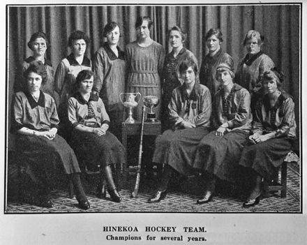 Hinekoa Hockey Team, c. 1921