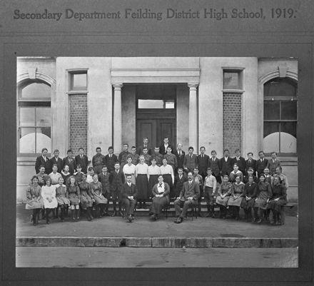 Feilding Technical School pupils 1919
