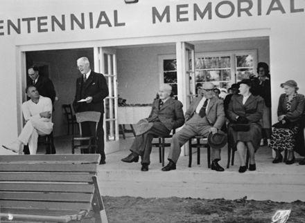 Opening of cricket pavilion