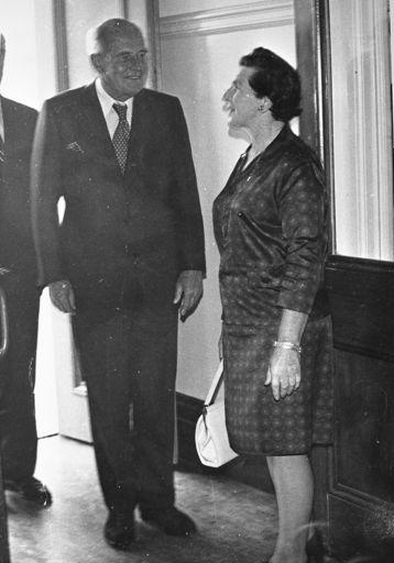 Visit of Sir Denis Blundell, c. 1976