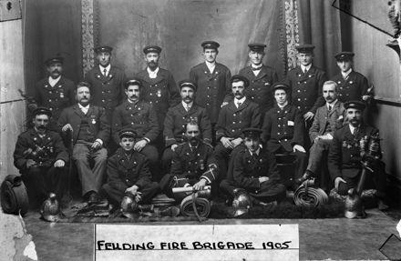 Feilding Fire Brigade, 1905