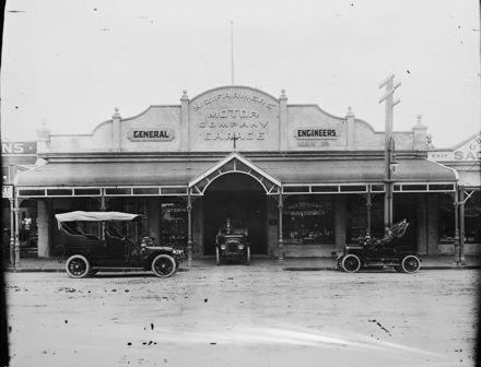 NZ Farmer's Motor Company Garage, c. 1906