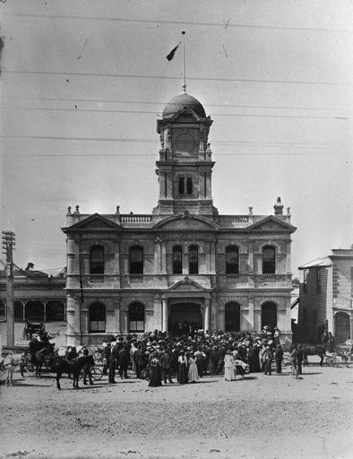 Opening of Feilding Post Office, c. 1902