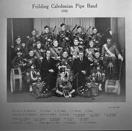 Feilding Caledonian Pipe Band, c. 1950
