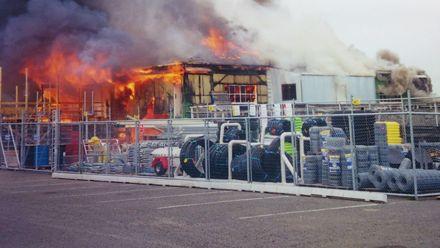 Fire at Feilding Saleyards