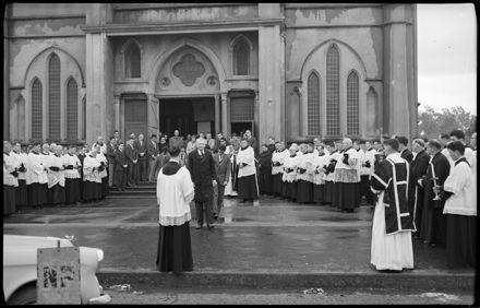"""Funeral of Catholic Priest."""