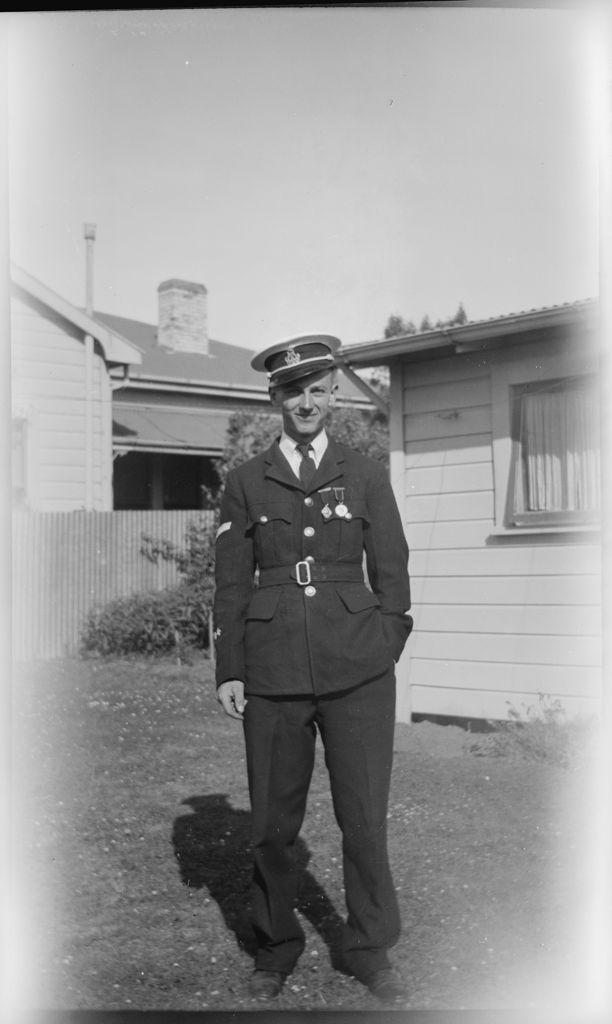 Man in band uniform
