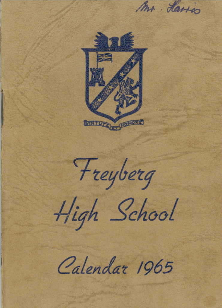 Freyberg High School Calendar, 1965