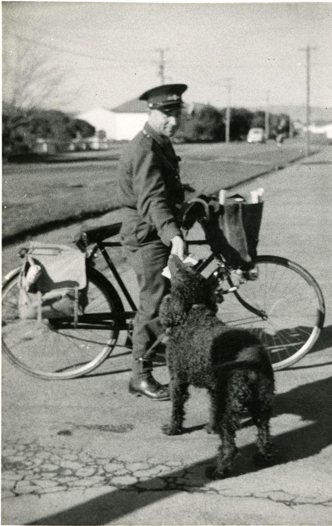 Michael Kopytko delivering mail