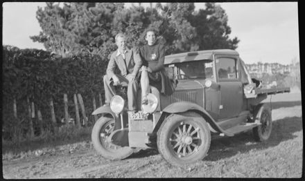 Man and woman with truck