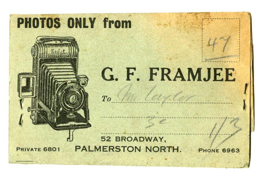 G.F. Framje photography - negative sleeve