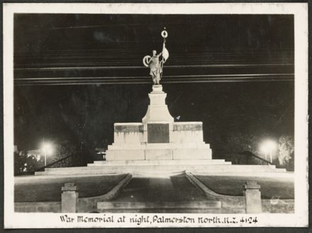 War memorial by night, The Square