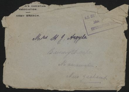 Envelope sent from WWI