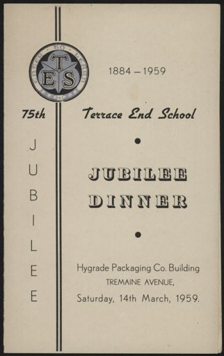 Terrace End 75th Jubilee dinner menu