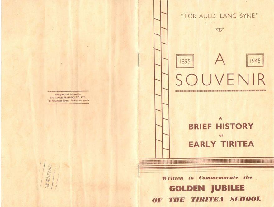 A souvenir 1895-1945: a brief history of early Tiritea