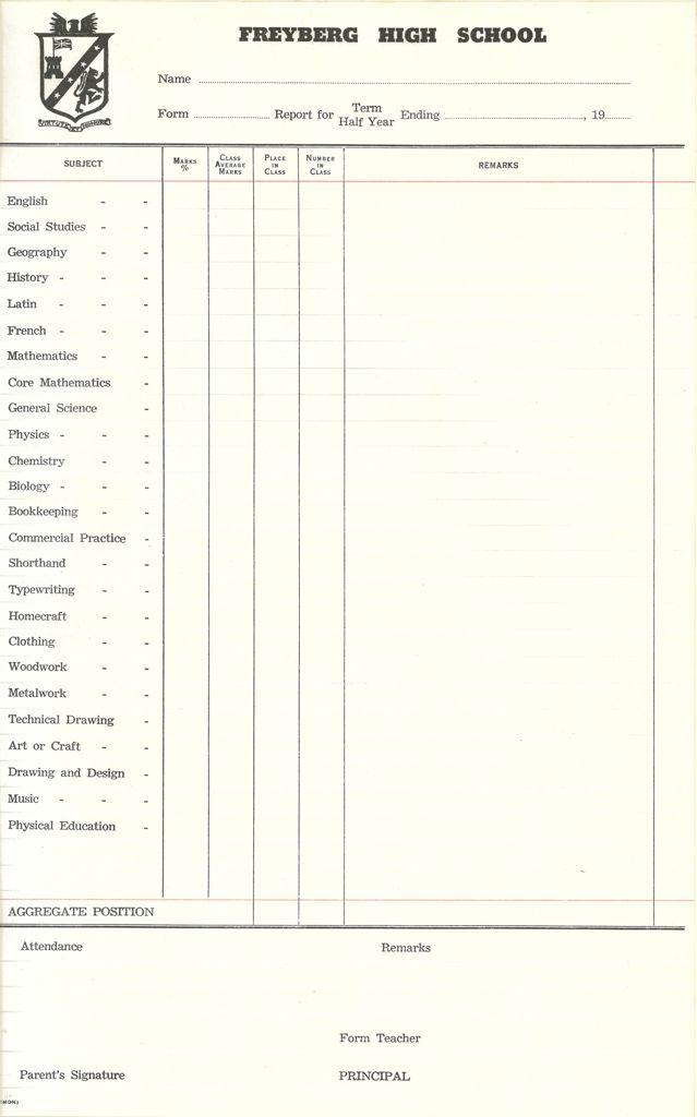 Freyberg High School Report
