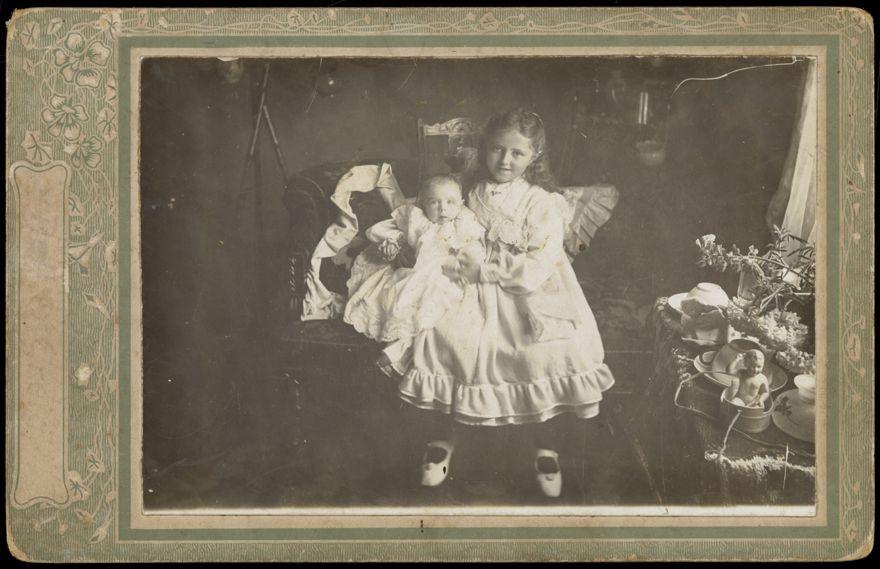 Harriet holding baby
