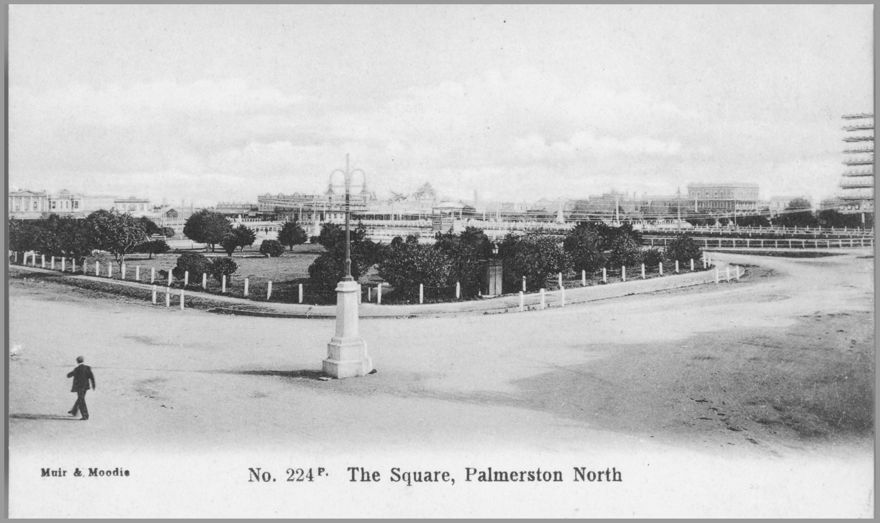 Looking Across the Square Towards Coleman Place